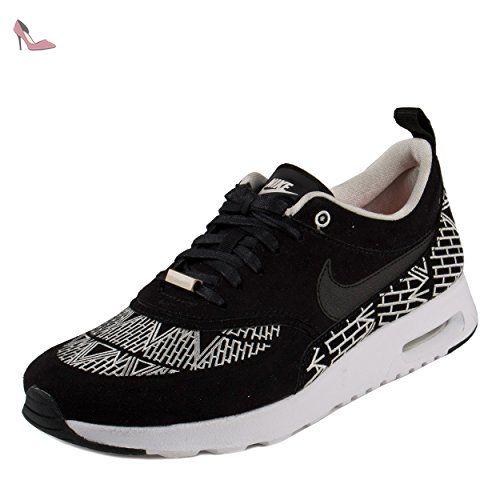 Nike W Air Max Thea Ultra, Chaussures de Running Entrainement Fille, Noir (Black (Noir/Gris Noir-Blanc-Noir)), 35.5 EU