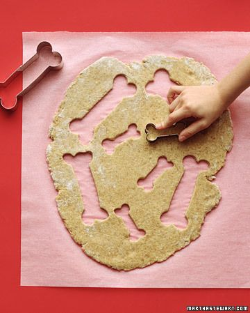 Homemade Dog Biscuits  When you're in the kitchen, don't forget the four-legged members of the family. These dog biscuits are easy to make and will be greatly appreciated! You can even personalize them with your pet's name.  How to Make Homemade Dog Biscuits