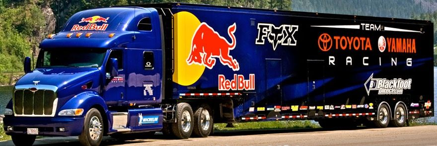 peterbilt fox red bull transporter hauler toyota yamaha race rh pinterest com
