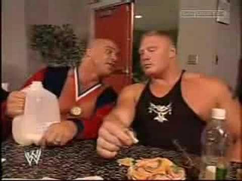 Kurt Angle And Brock Lesnar Brock Lesnar Kurt Angle Wwe