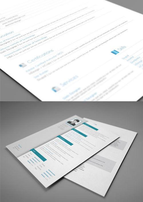 Ultimate Collection of Free Adobe InDesign Templates - CV Resume - adobe indesign resume template