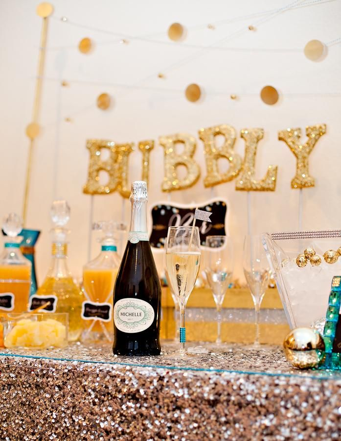 23rd Birthday Party Champagne Party New Year S Eve Celebrations Diy New Years Party