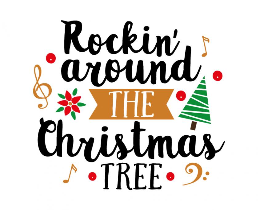 Free SVG cut file Rockin' around the Christmas tree