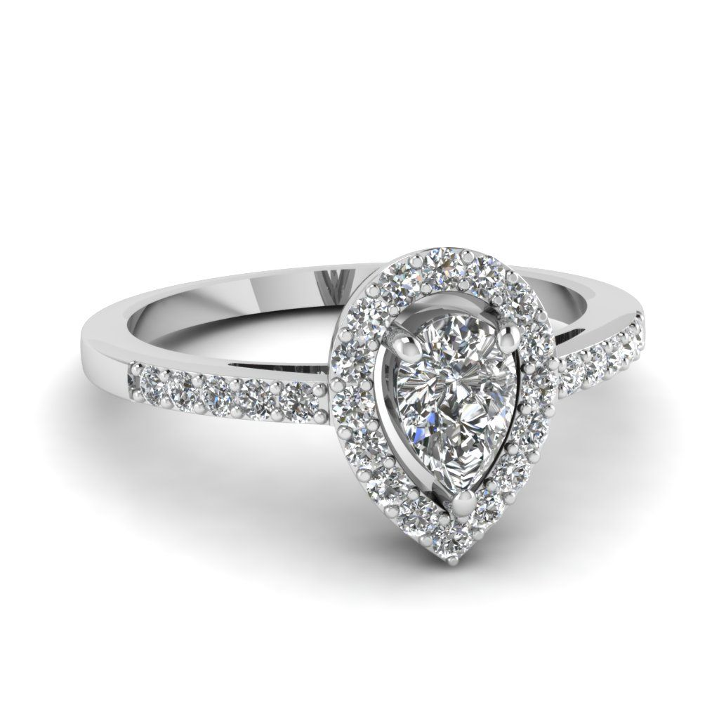 19++ Pear halo engagement ring with wedding band ideas