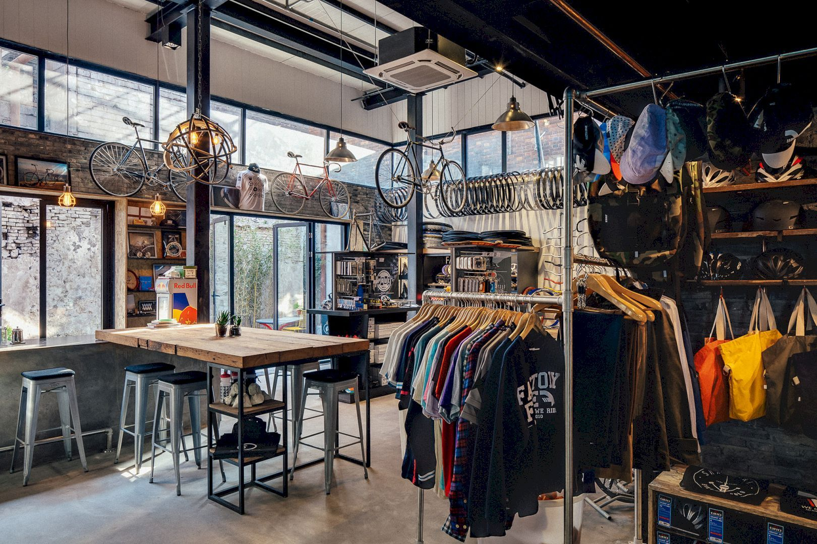 Factory Five Jingan Transforming A Warehouse Into A Shop Bike