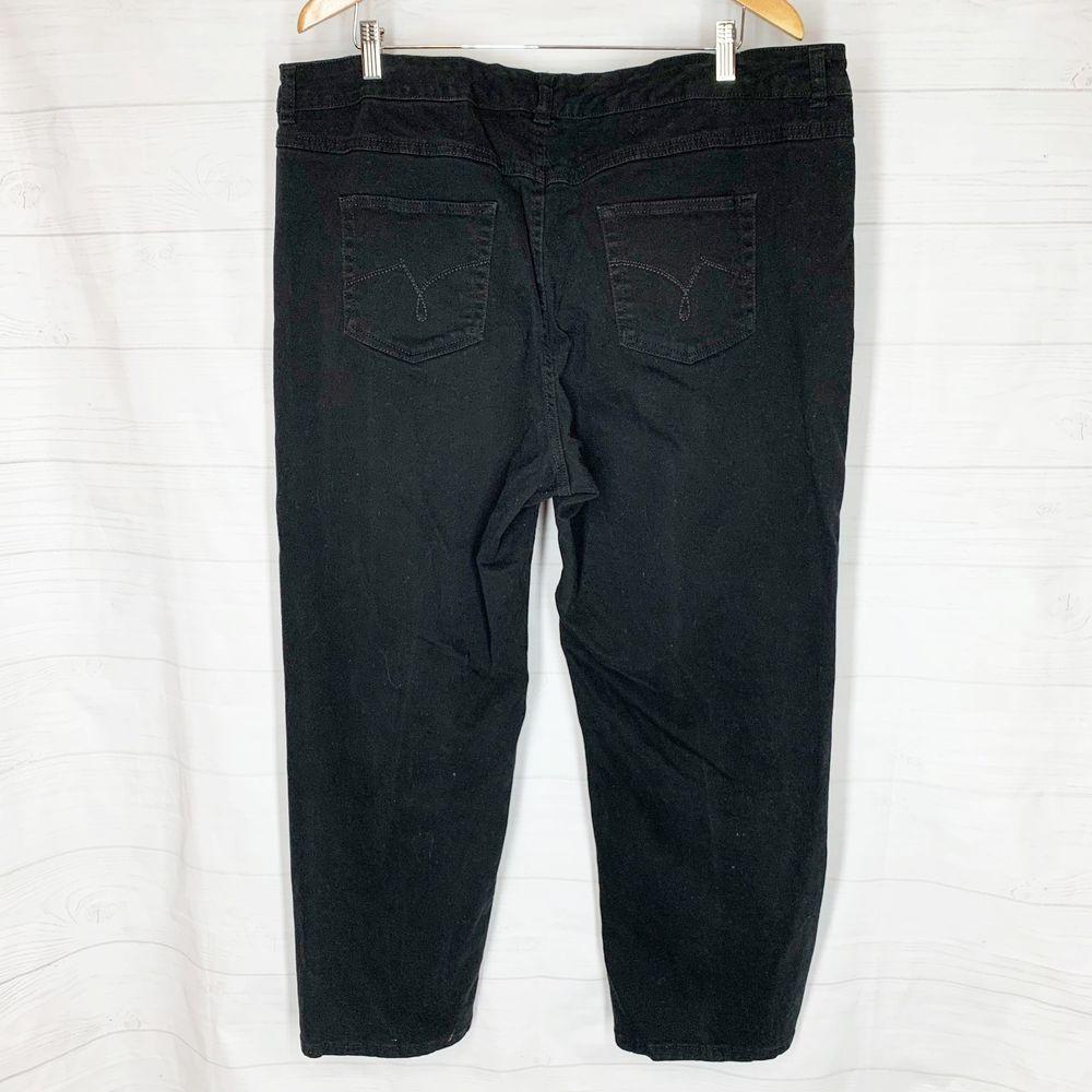 0dbbdd065a789 Just My Size Pants Plus Size 24W JMS Black Twill Jeans Straight Legs  Stretch  JustMySize