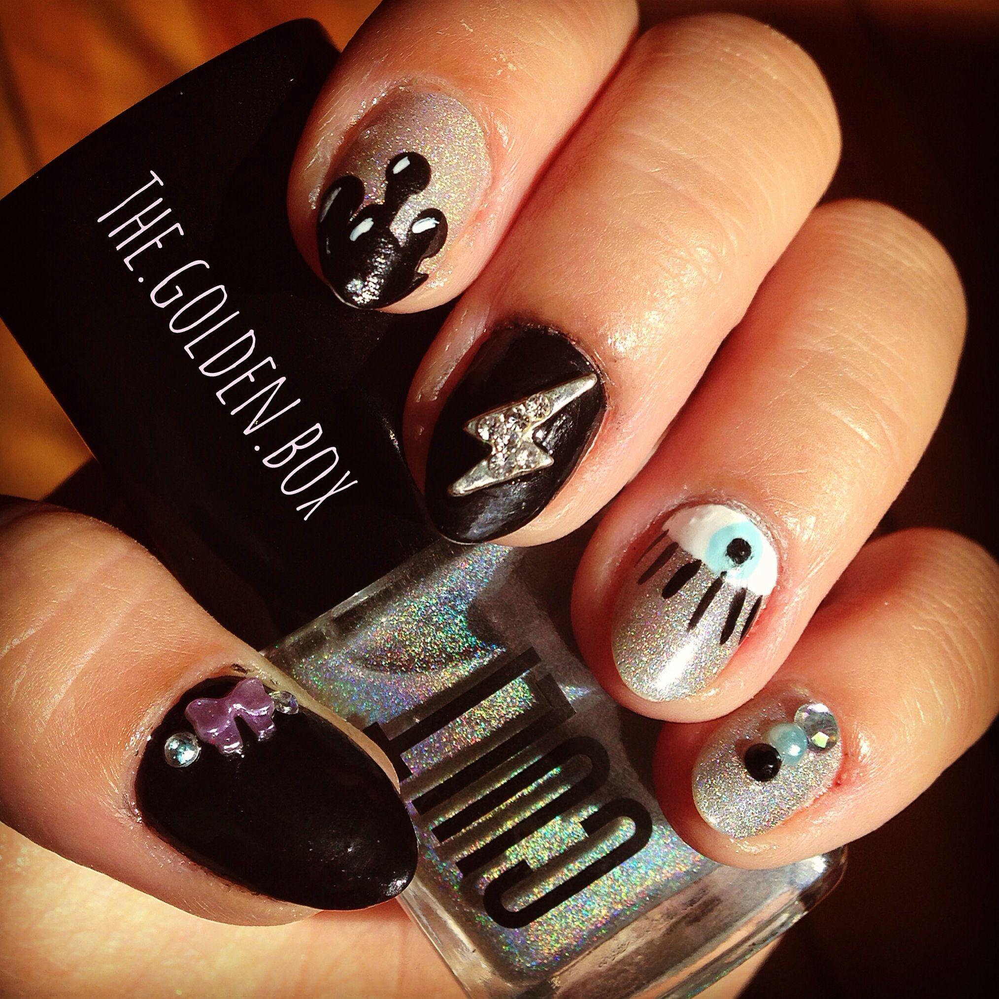 Edgy nail art | Nails | Pinterest | Edgy nail art and Edgy nails