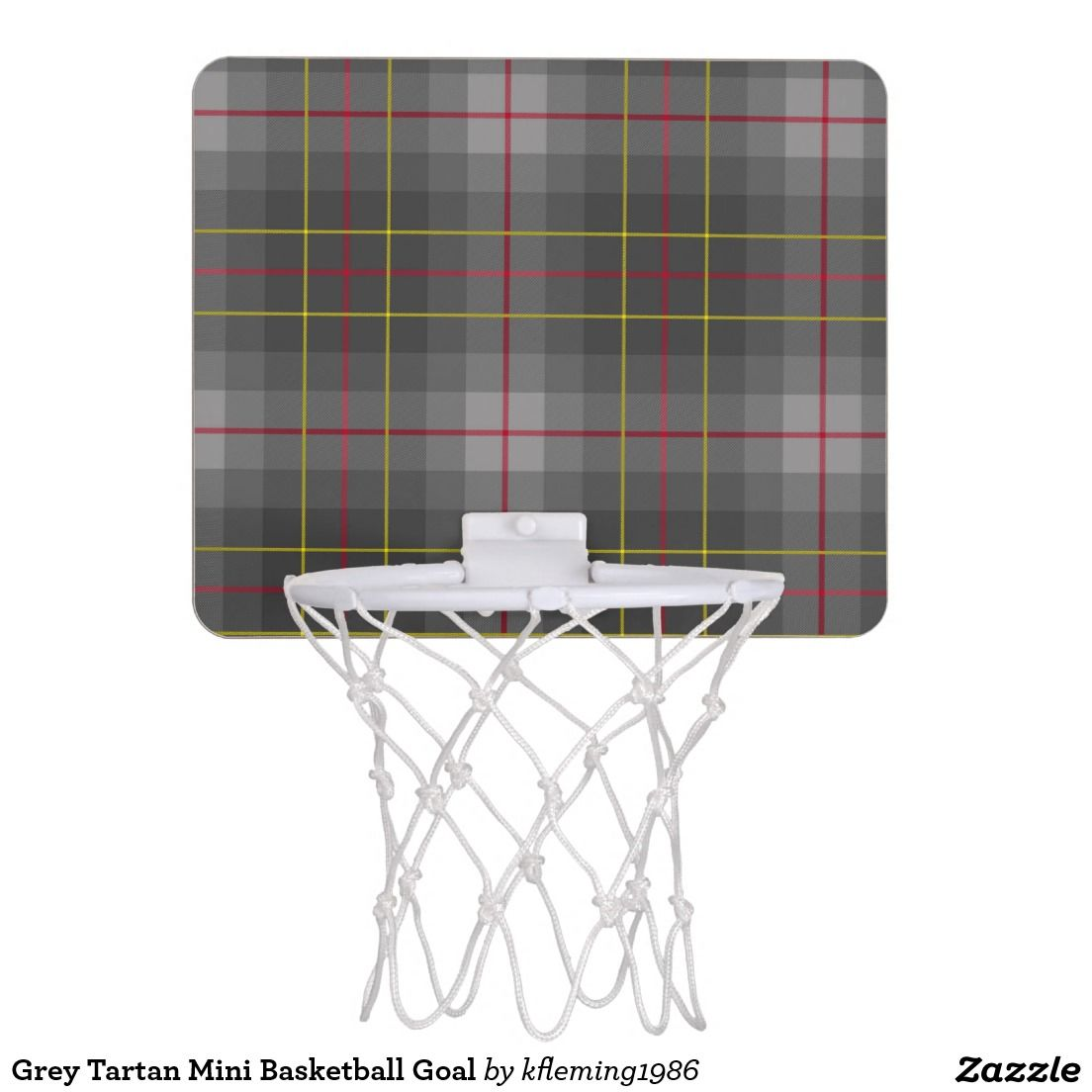 Grey Tartan Mini Basketball Goal Mini Basketball Hoop