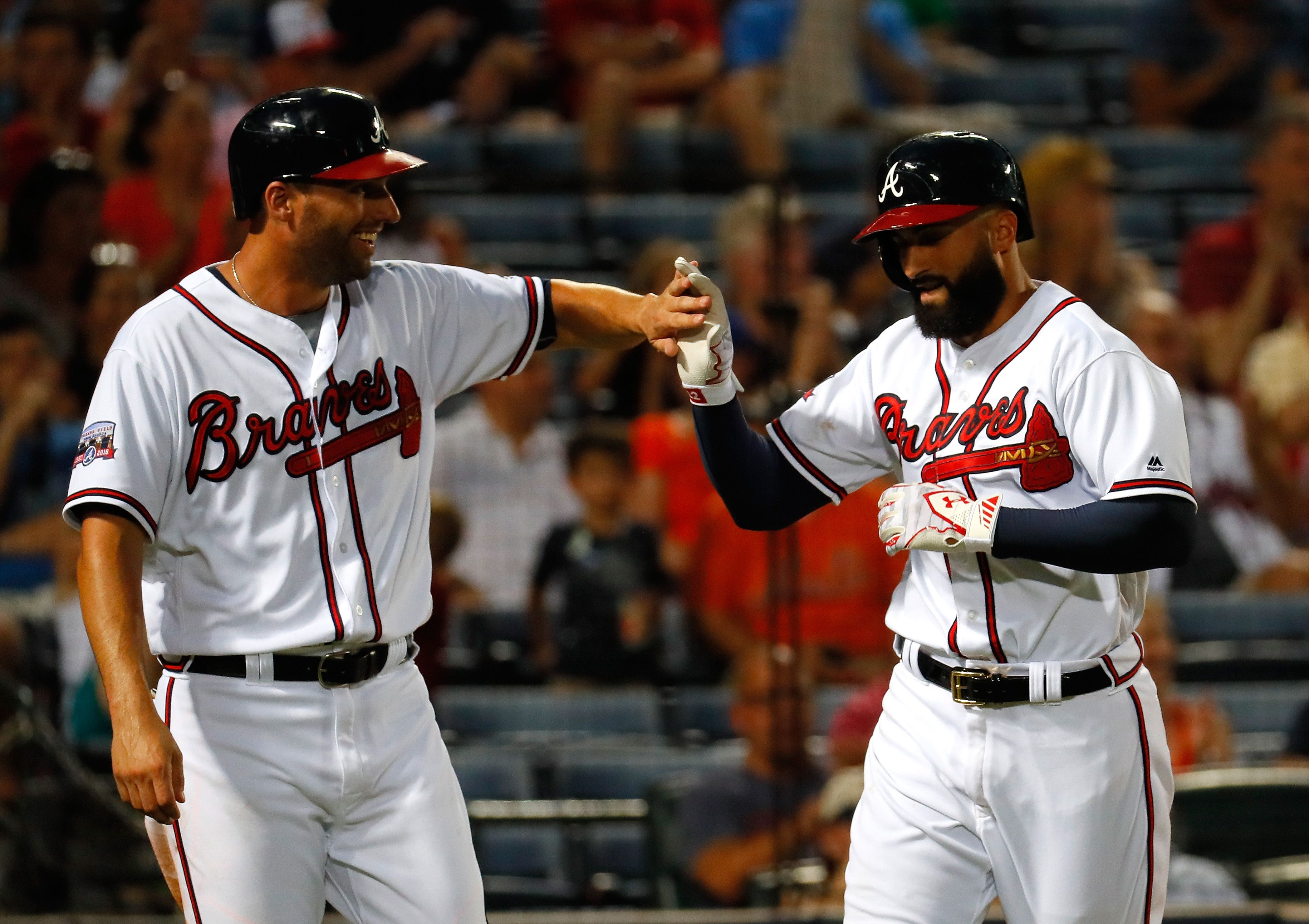 Braves Outfielders Jeff Francoeur Left And Nick Markakis Might Be Wearing Different Uniforms In The Near Future Photo B Nick Markakis Atlanta Braves Braves