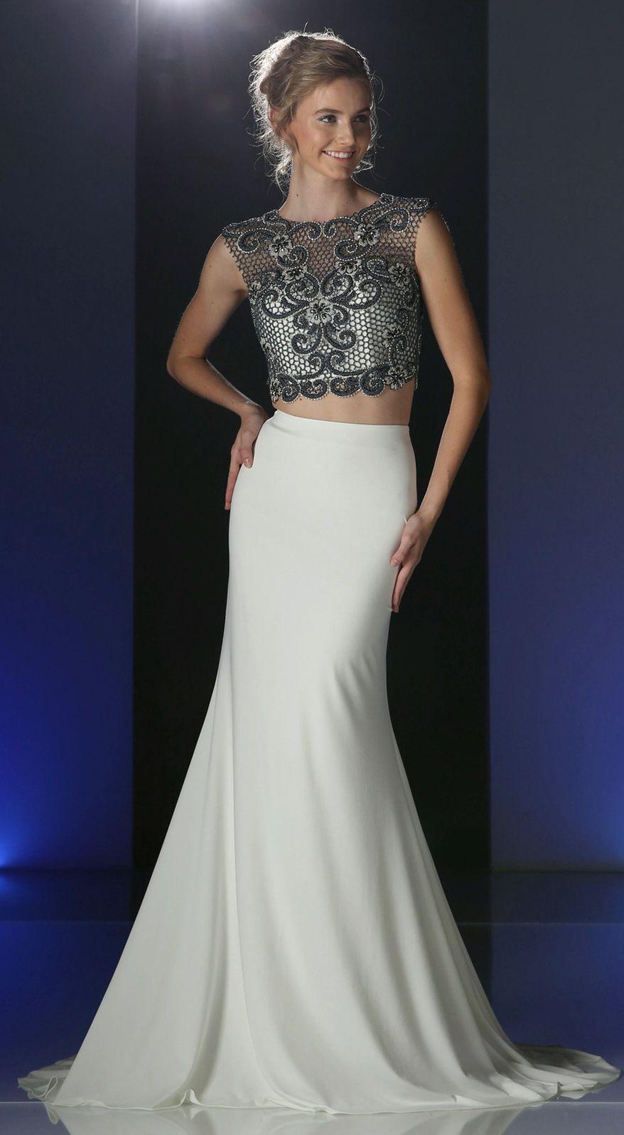 Prom dresses evening dresses by cinderellaucbrueaddjucbruetwo piece
