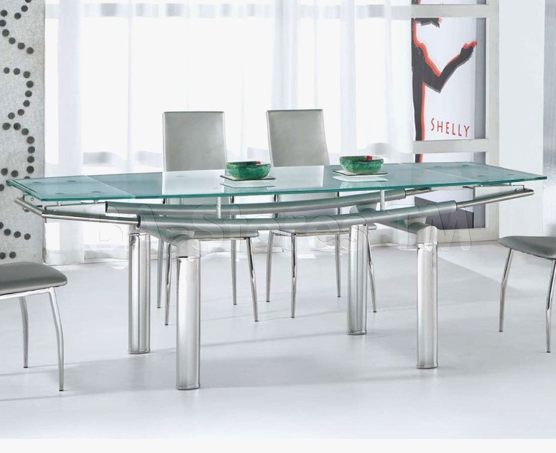 Stainless Steel Dining Table With Glass Top Steel Dining Table Glass Dining Table Designs White Glass Dining Table