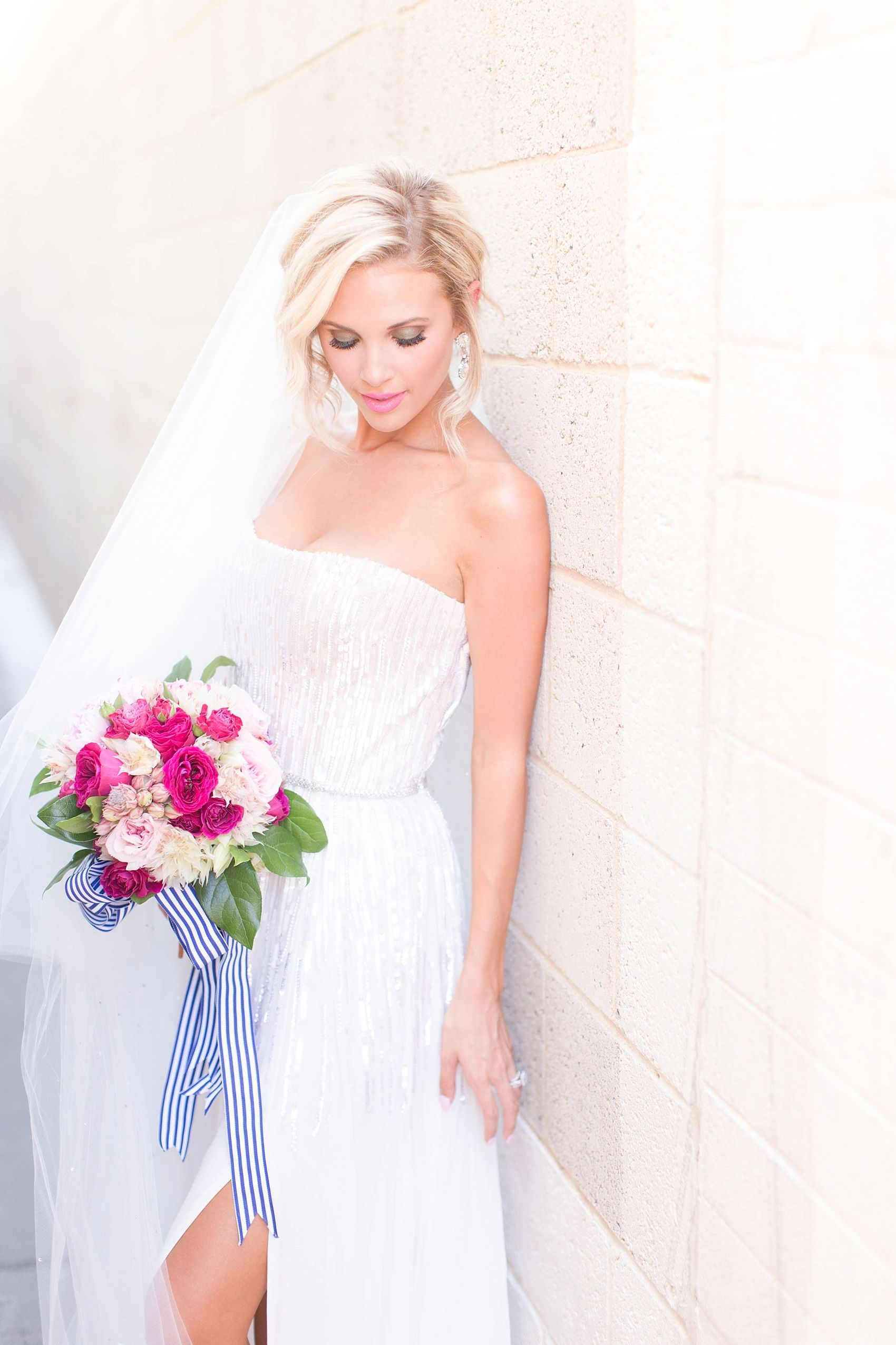 Navy and pink scottsdale wedding inspiration strapless wedding explore strapless wedding dresses and more ombrellifo Gallery