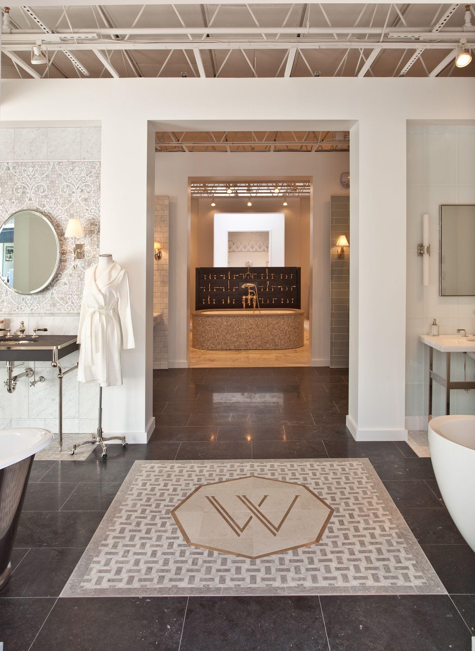 Bathroom showrooms canberra - Logo In Floor