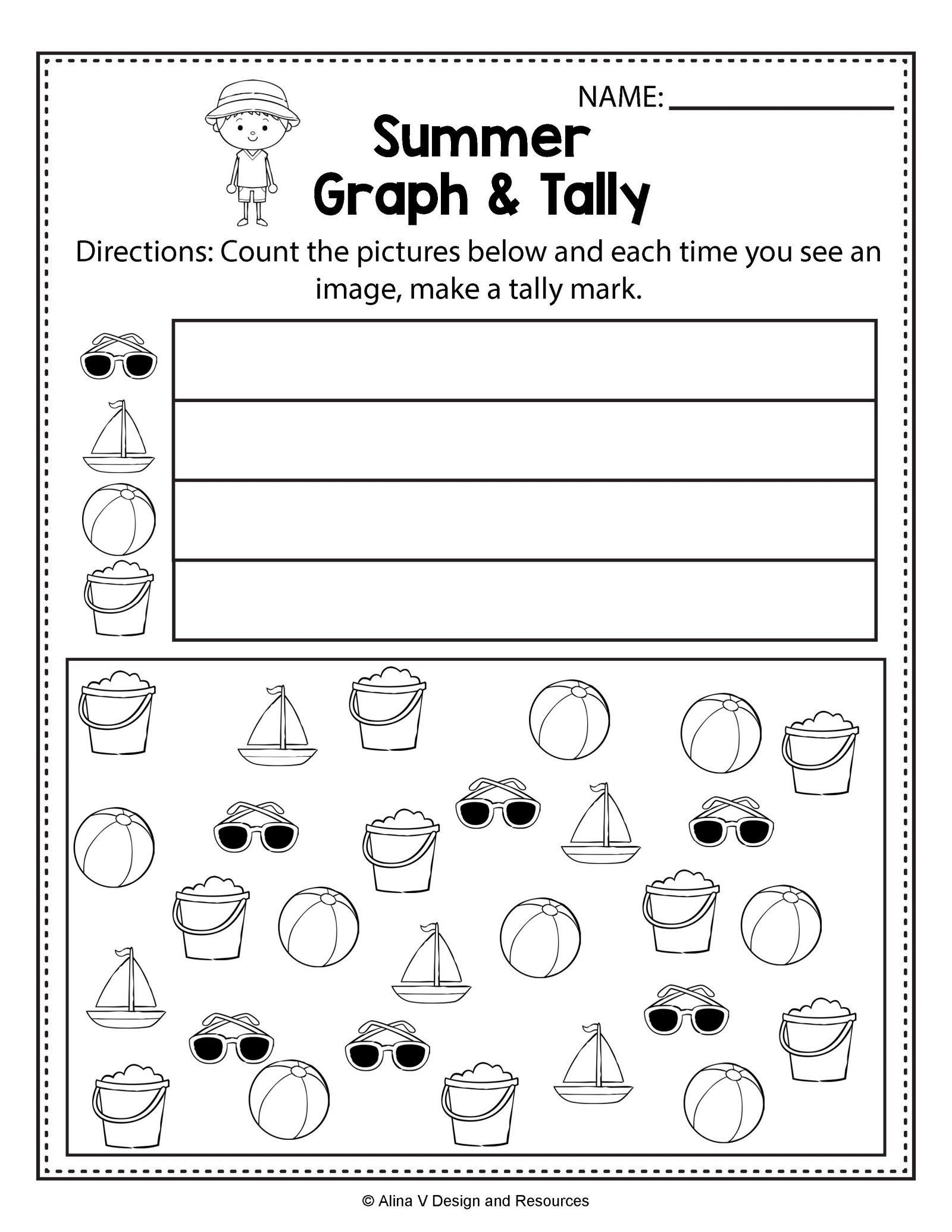 Kindergarten Tally Mark Worksheets Tally Marks Worksheets