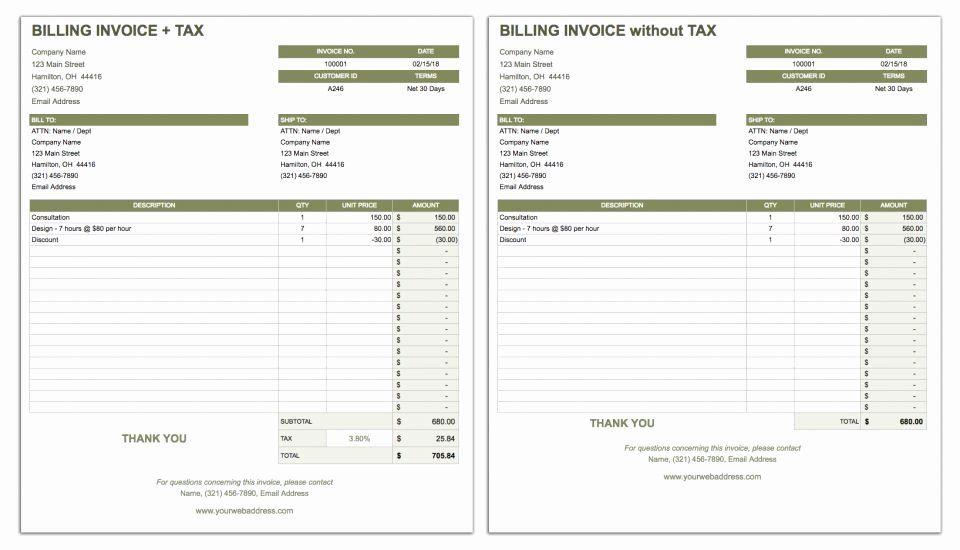 Basic Invoice Template Google Docs Elegant Free Google