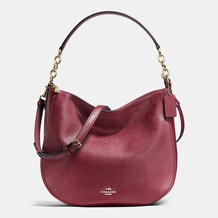 Coach Malaysia Official Page Chelsea Hobo 32 In Pebble Leather