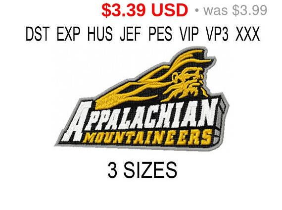 Appalachian State Mountaineers logo embroidery design