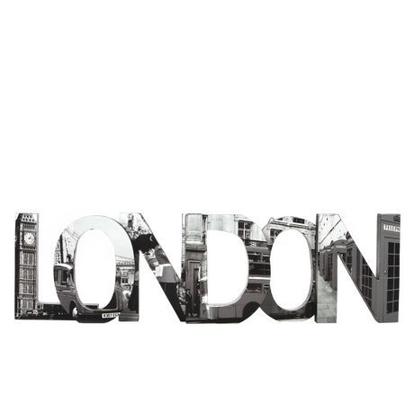 Hometrends London Word Art Black White Walmart Ca