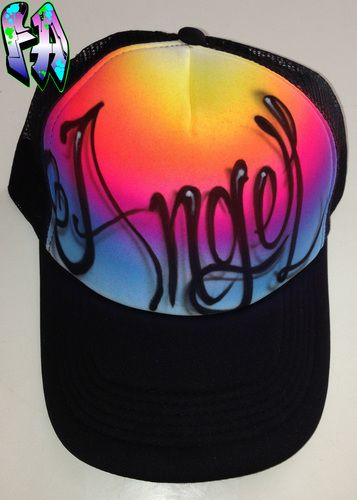 f141995a2 Airbrushed Hat - Style 9 - Sunsets | Airbrushed hats in 2019 ...