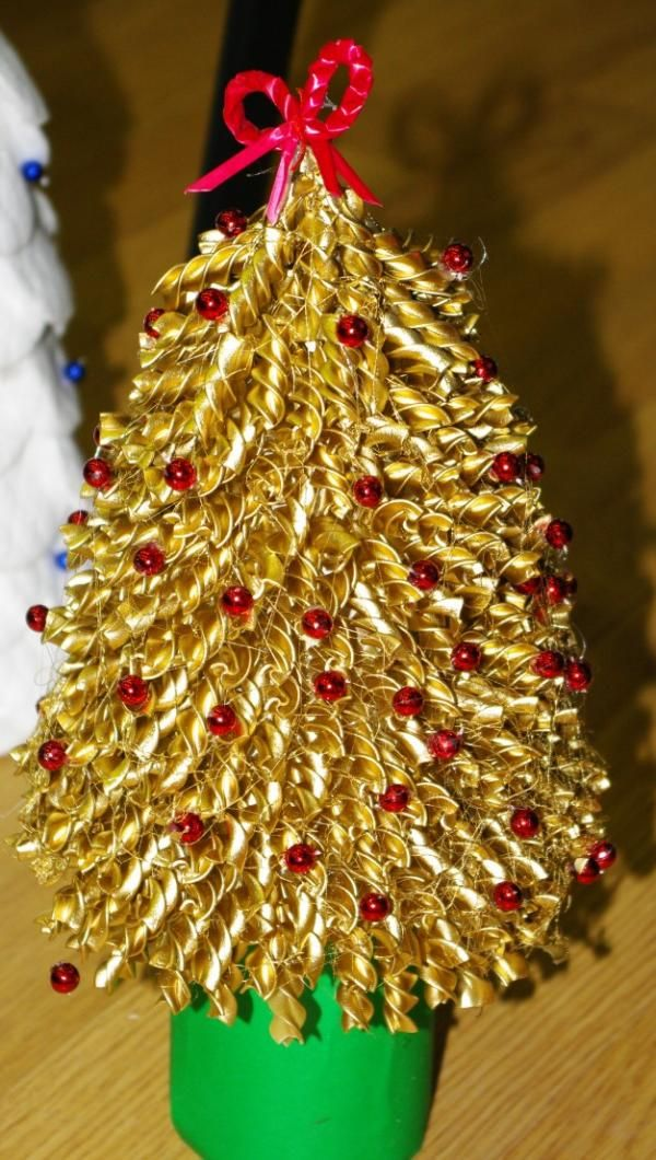 Christmas Tree From Macaroni Handmade Christmas Decorations Xmas Crafts Christmas Crafts