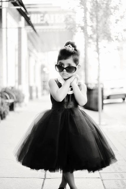She Looks Like A Mini Audrey Hepburn Maybe Next Halloween Flower Girl Dresses Chloe Dress Girls Party Dress