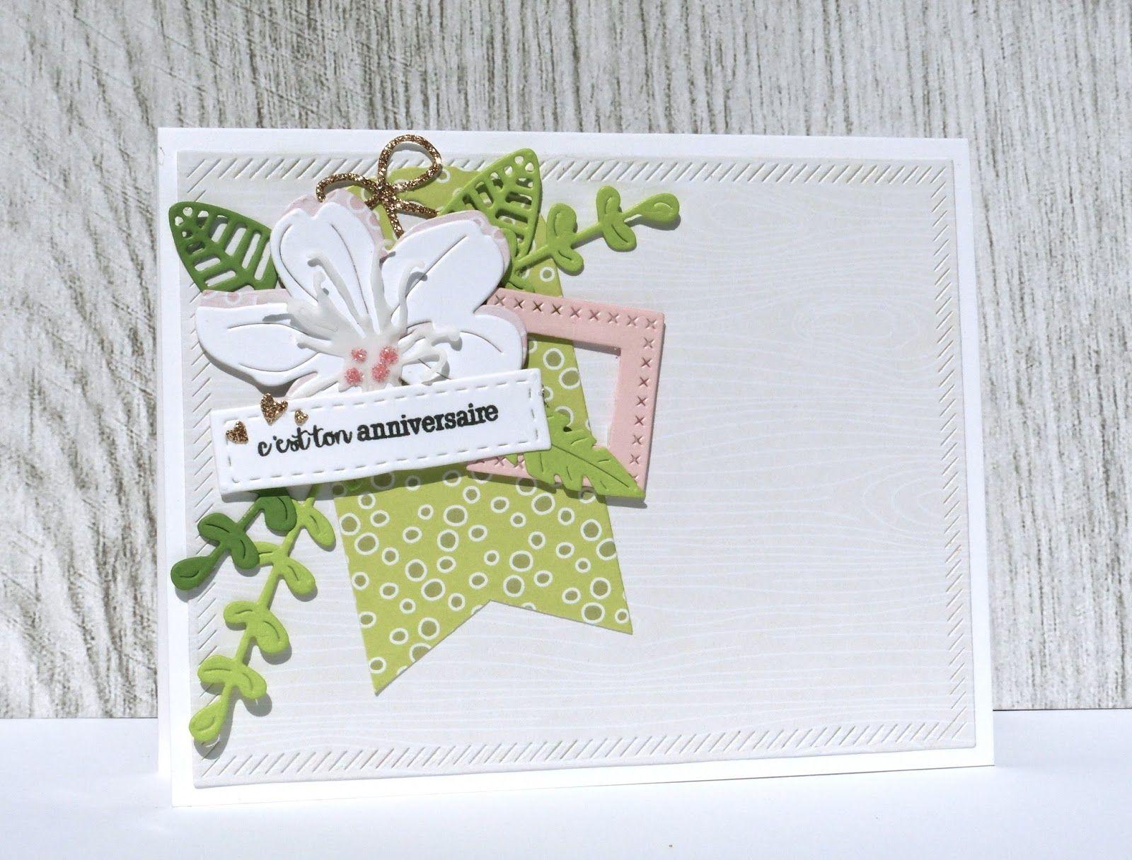 carte scrapbooking carte anniversaire