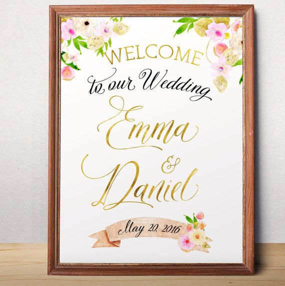 Wedding Sign Printable Welcome To Our Custom Fl Poster