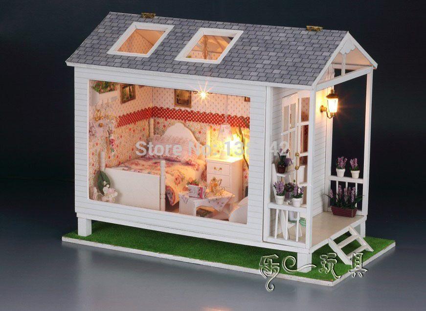 13817 Hongda diy grote Loving doll house beach villa Miniatuur ...