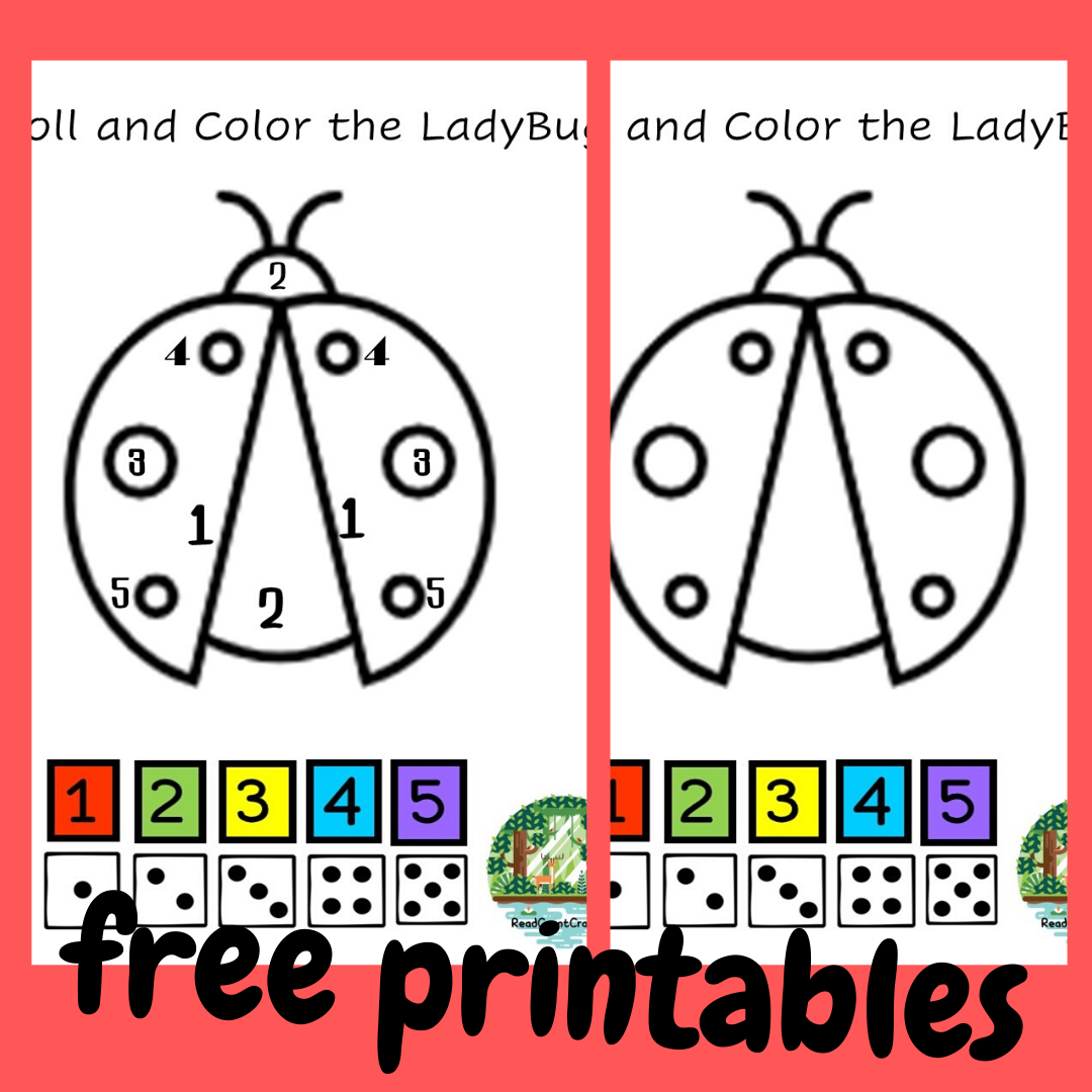 Preschool Lady Bug Roll And Coloriffic In