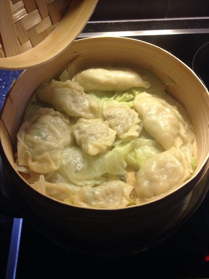 Raviolis chinois à la vapeur Recette asiatique au porc Faisable au boeuf ou au poulet également!