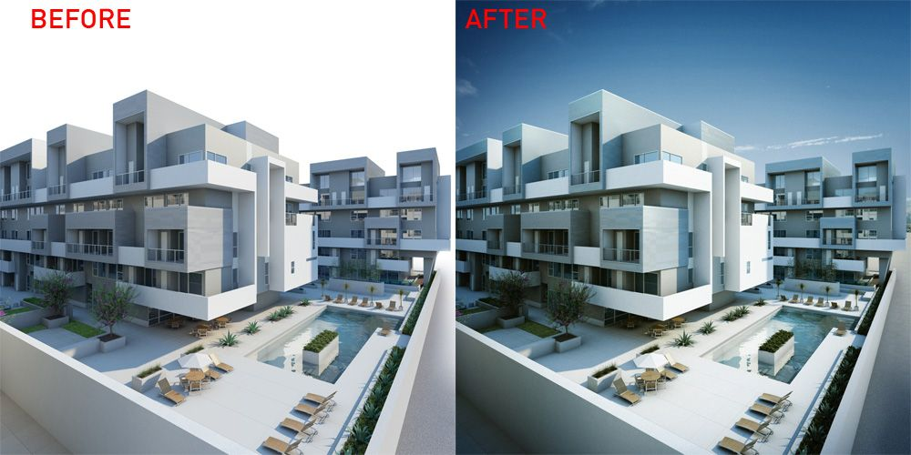 Exterior scenes part 4 rendering and post 3ds max - Vray realistic render settings exterior ...