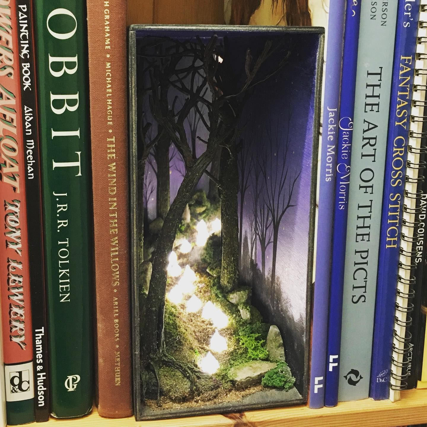 A Book Nook Inspired By The Willo The Wisp In Brave Have You Ever Seen One In Real Life I Ve Always Been Fascinat Book Nooks Bookshelf Art Miniature Books