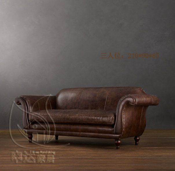 Country Leather Sofa: French American Country Retro Leather Sofas On Aliexpress