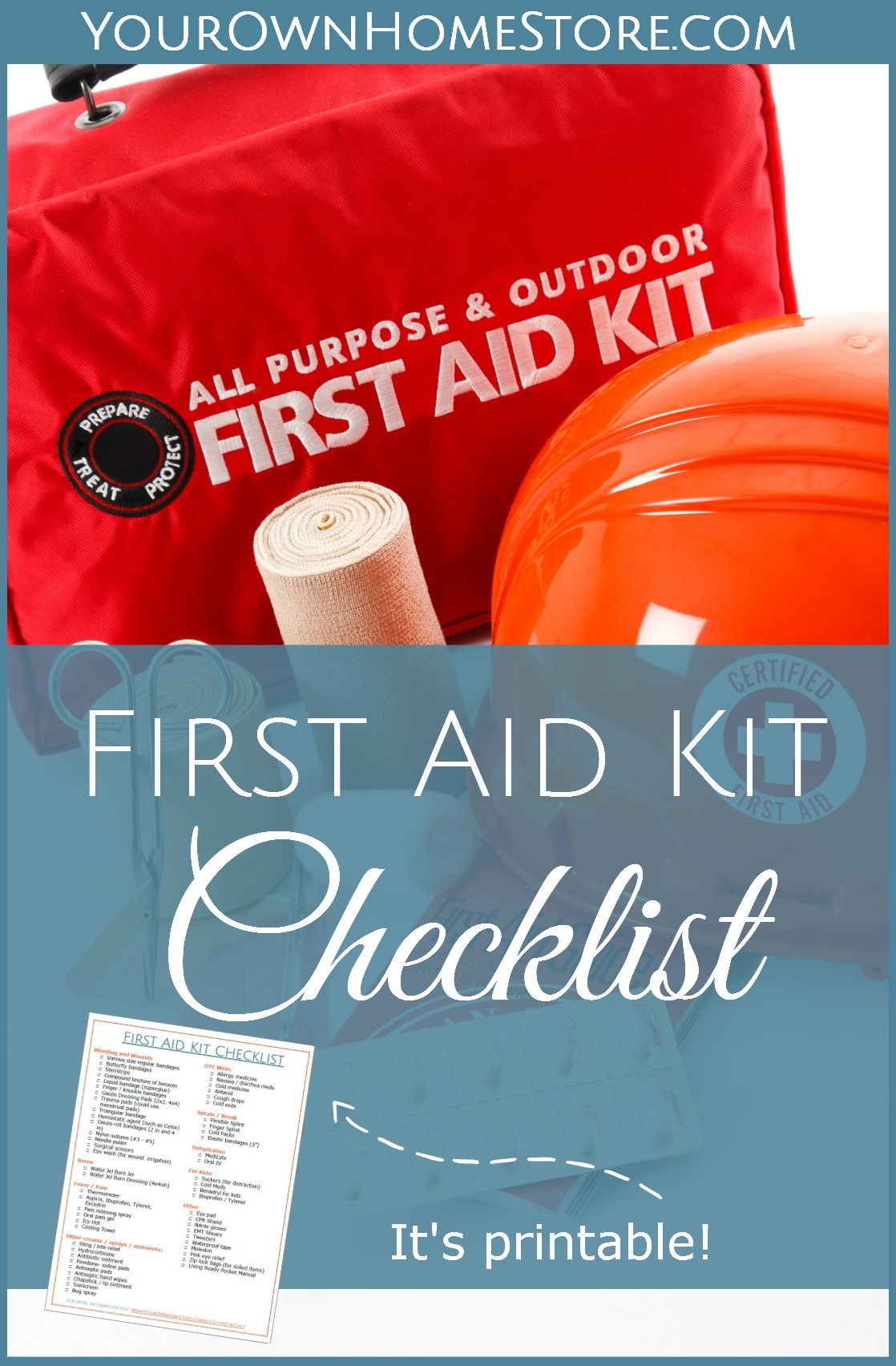 Printable First aid kit checklist   RN approved first aid kit   Mom's first aid kit