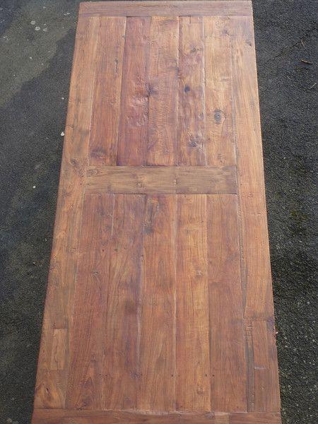 Esstische 260cm gro er langer esstisch massiv altes teak for Grosser esstisch massiv