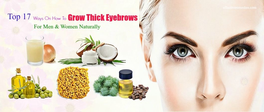 how to get thicker eyebrows guys