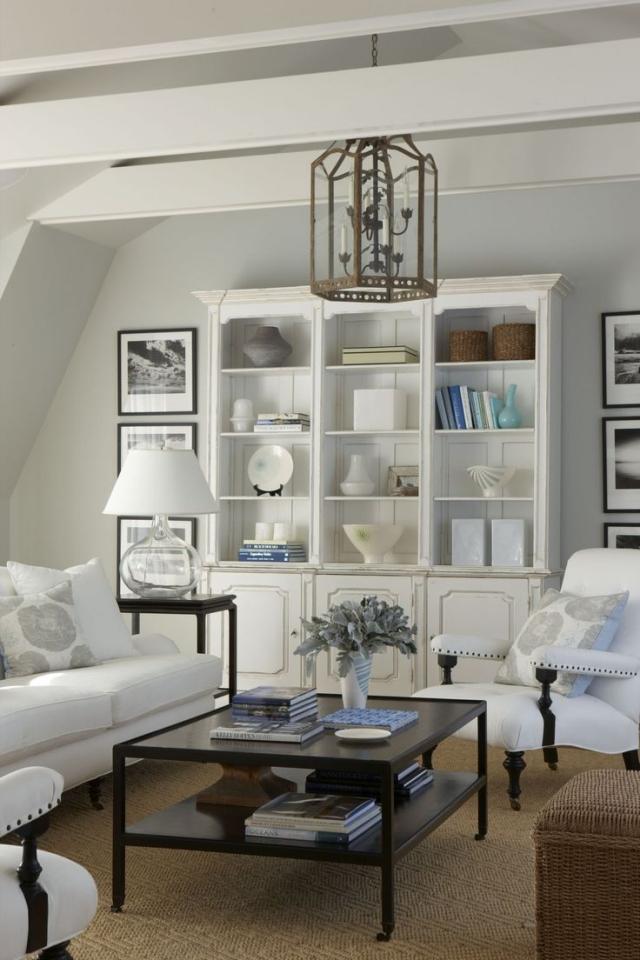 Wohnzimmer Deko Ideen Schwarz Weiss Grau In 2020 Hamptons Living