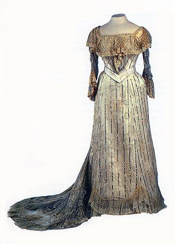 Evening Dress of Empress Alexandra Feodorovna - Nicholas & Alexandra Exhibit Items