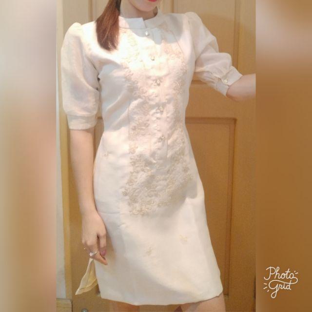 MODERN FILIPINIANA CHINESE BARONG DRESS