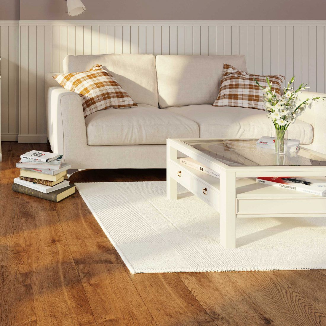 Looks like an oak floor but is a natural(!) linoleum. The perfect ...