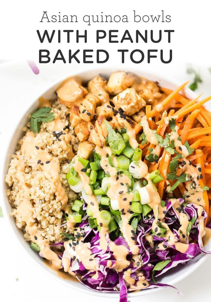 Photo of #Asian #Baked #Bowls #Healthy Recipes Snacks Lunch Ideas #Peanut #Quinoa