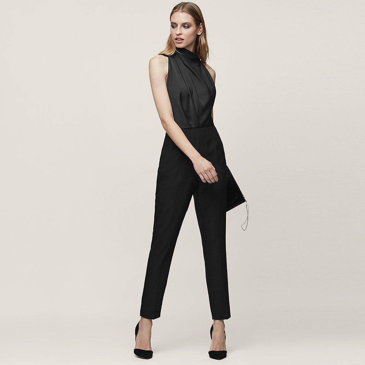 6d9d8cfc9d8d Kita Black Lace-Back Jumpsuit - REISS