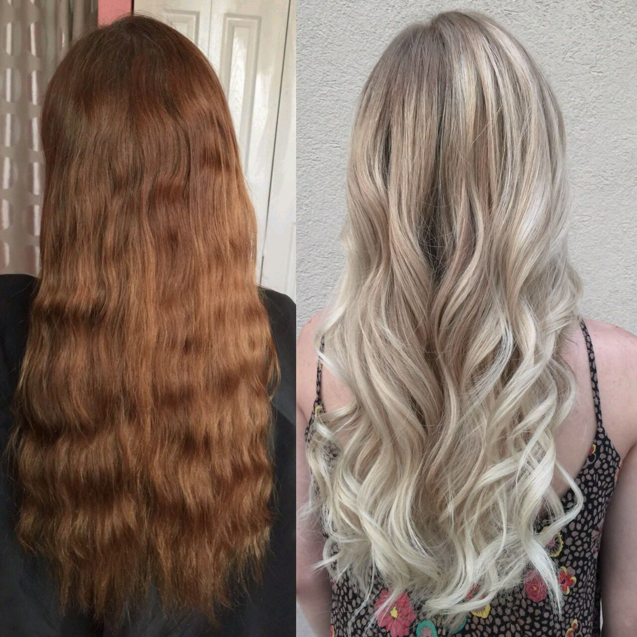 Hair Transformation From Box Dye Brown To Beautiful Blonde