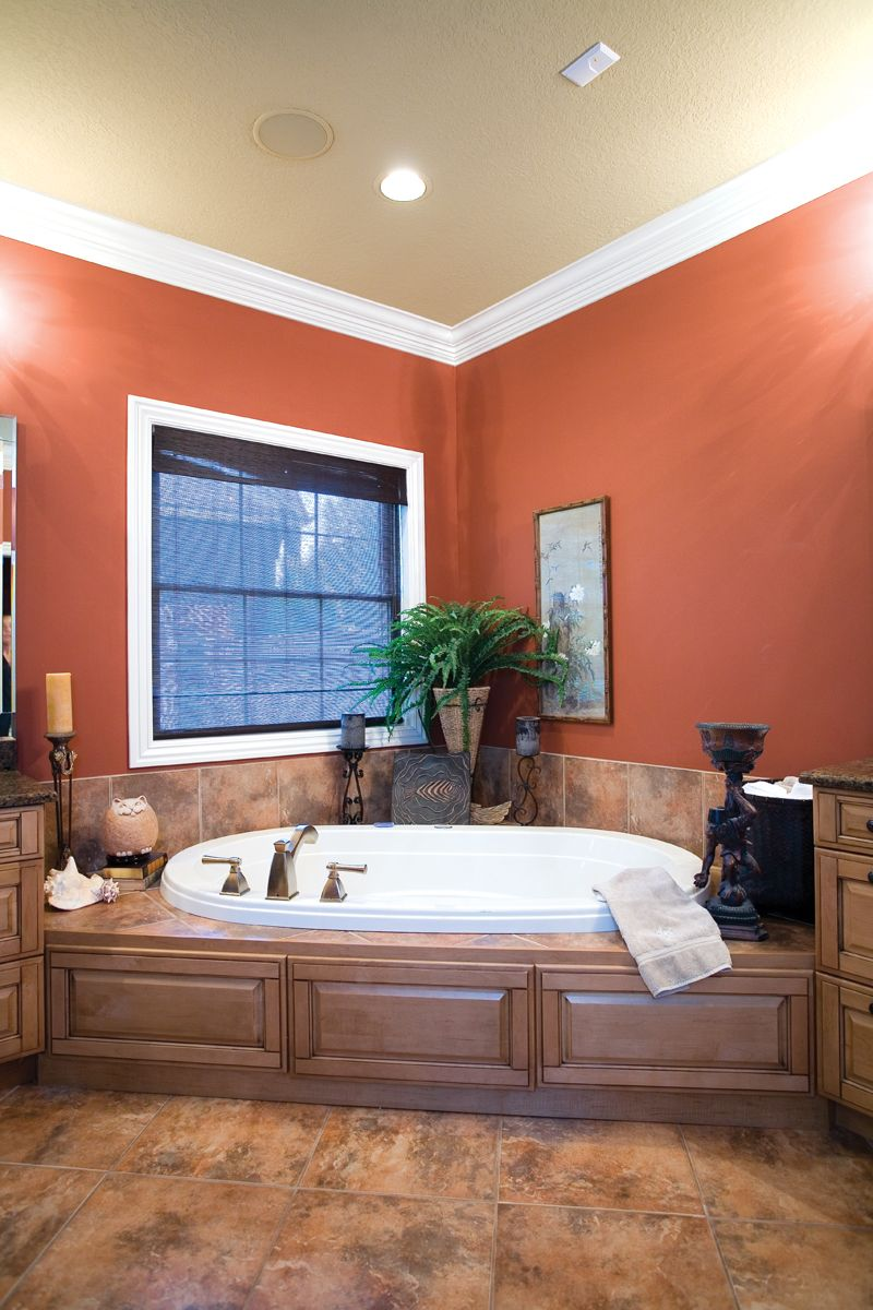 Escape To This Oversized Corner Whirlpool Tub In The