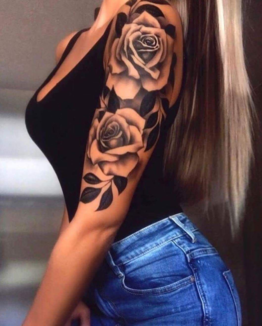 Arm frau tattoo rosen 55 Best