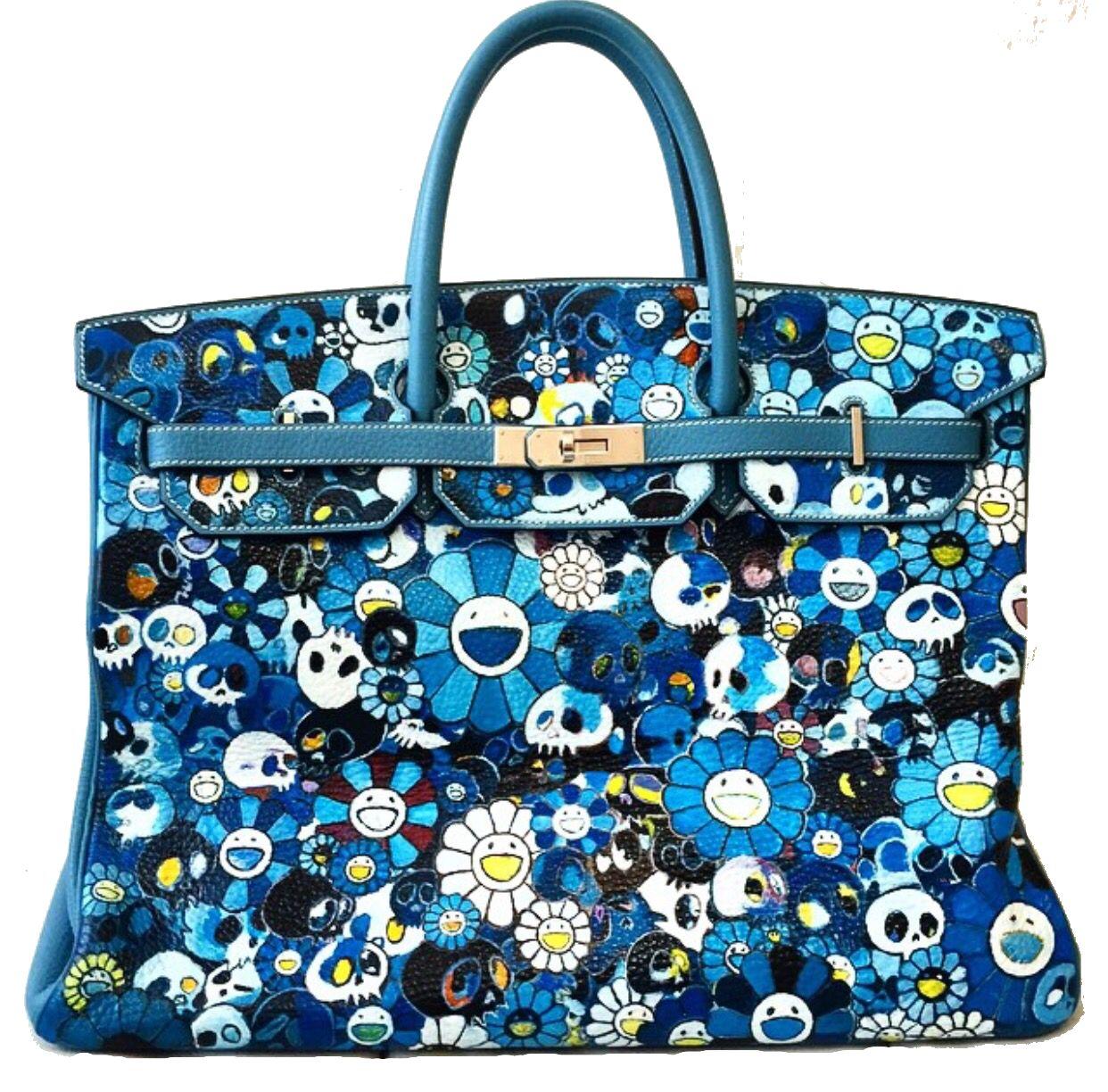 4f2dc06d3a08 Custom Takashi Murakami Painted Birkin Bag