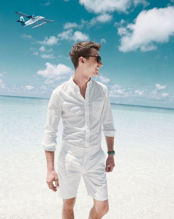moda masculina 2018 verao look all white branco