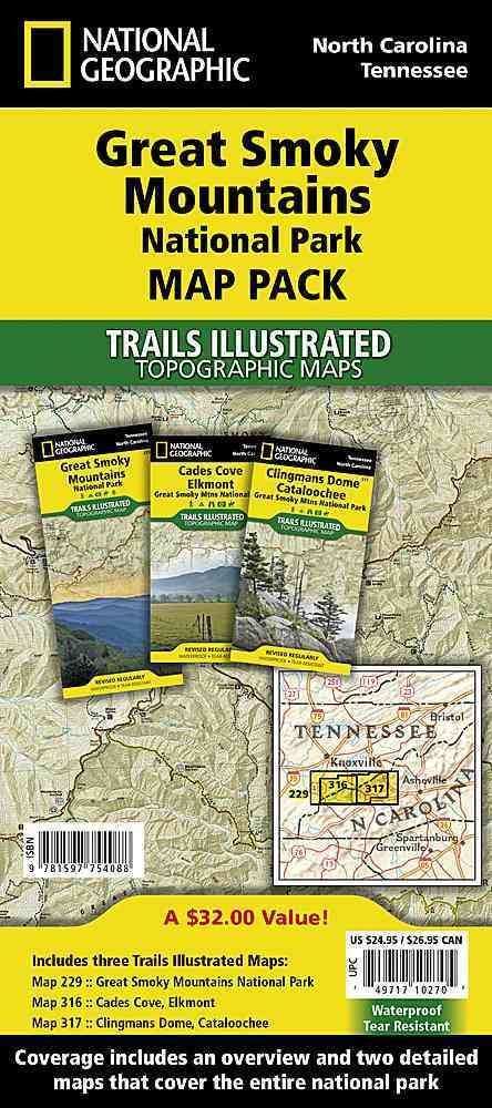 National Geographic Trails Illustrated Topographic Maps Great Smoky
