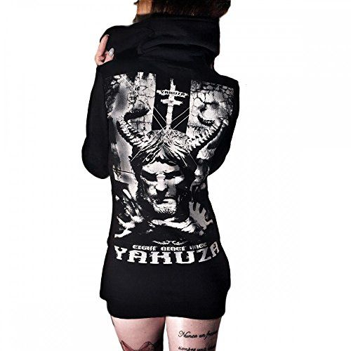 Yakuza Long Zipper Hoodie Damen Kapuzen Pullover GLZB 7141