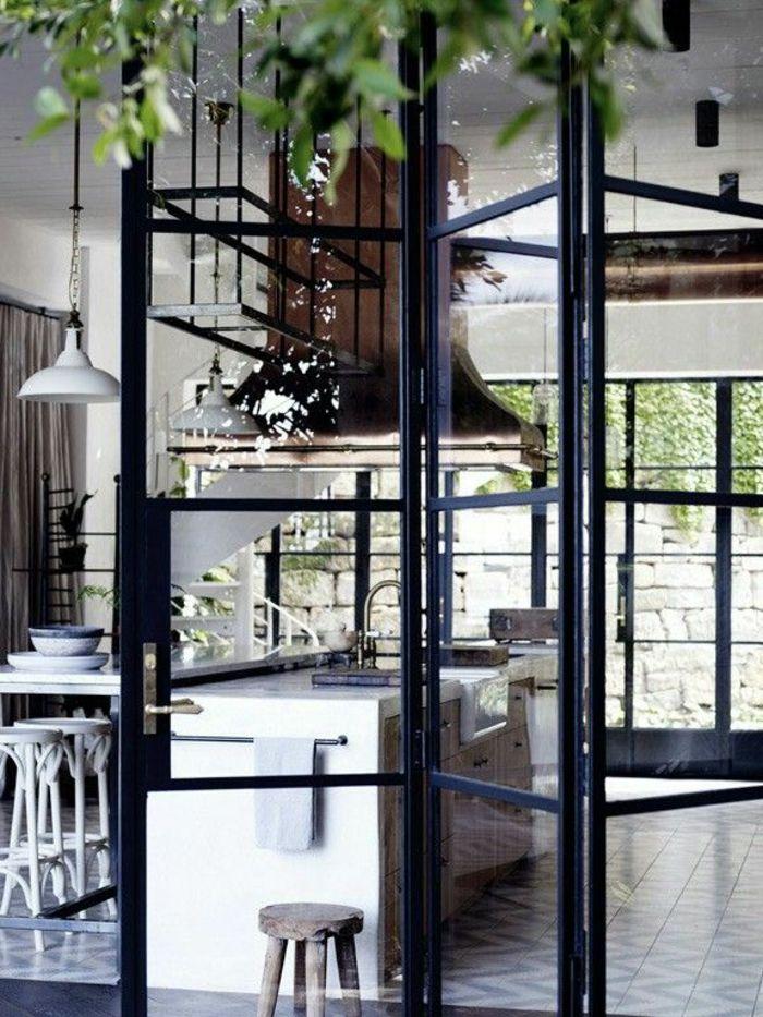 Les Portes Pliantes Design En 44 Photos Porte Pliante Portes Vitrees Interieures Fenetres En Acier